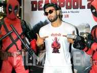 Ranveer Singh snapped at his zany best at the screening of Deadpool 2