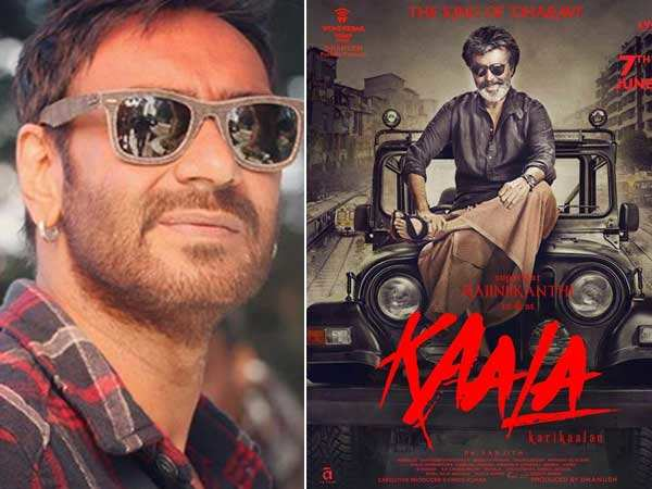 Ajay Devgn launches the poster of Rajinikanth's Kaala Karikalan