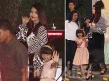 Aishwarya Rai and Aaradhya Bachchan step out for a dinner outing
