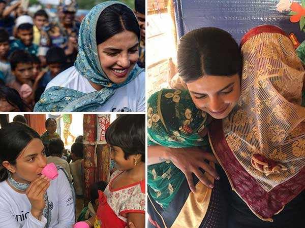 In pictures! Priyanka Chopra visits a refugee camp in Bangladesh