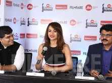 Trisha graces the 65th Jio Filmfare Awards (South) press conference