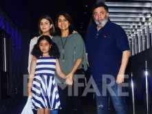 Rishi Kapoor and Neetu Kapoor head out for dinner with their daughter