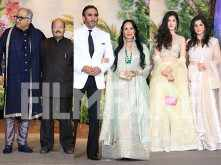 Jackie Shroff, Boney, Shanaya & Maheep Kapoor attend Sonam's reception