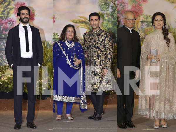 Harshvardhan Kapoor, Karan Johar & Juhi Chawla at Sonam