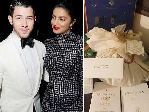 Priyanka Chopra and Nick Jonas give customised goodies to their guests