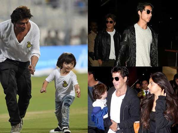 5 times birthday star Shah Rukh Khan twinned with his children