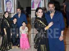 Sanjay Dutt and his family celebrating Diwali at their residence