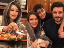 Sonali Bendre celebrates Diwali with Goldie Behl and son Ranveer
