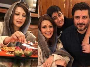 Sonali Bendre celebrates Diwali with Goldie Behl and son Ranveer