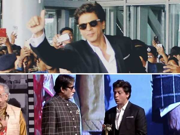 Shah Rukh Khan and Amitabh Bachchan attend an event together in Kolkata