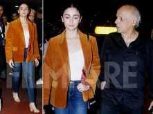Alia Bhatt back in the bay post attending Kolkata Film Festival