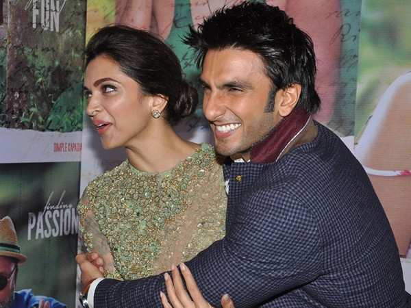 Deepika Padukone and Ranveer Singh colour coordinate at their ring ceremony