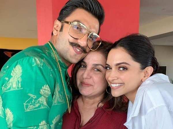 Farah Khan gives a special gift to Ranveer Singh and Deepika Padukone