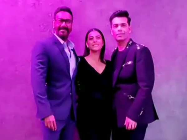 Kajol,  Ajay Devgn, Karan Johar sipped some Koffee together and all is well