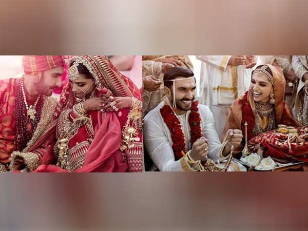 First pictures of Ranveer Singh and Deepika Padukone as husband and wife