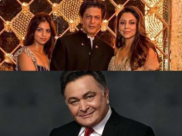 Shah Rukh Khan, Gauri Khan and Suhana Khan visit Rishi Kapoor in New York