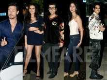 Karan Johar, Tiger Shroff, Ishaan Khatter at Tara Sutaria's birthday bash