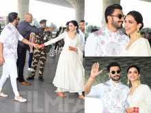 Newlyweds Deepika Padukone and Ranveer Singh head to Bengaluru for their first reception