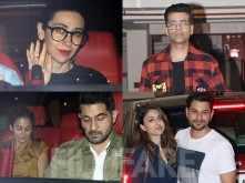 Karan Johar, Soha Ali Khan, Karisma Kapoor at Kareena Kapoor's residence