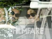 Ranveer Singh and Deepika Padukone clicked out and about in Bengaluru