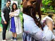 Neha Dhupia and Angad Bedi spotted with baby girl Mehr