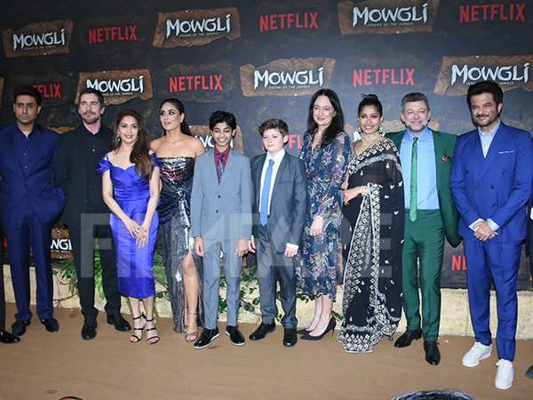 Abhishek Bachchan, Christian Bale, Madhuri Dixit, Kareena Kapoor Khan, Rohan Chand, Freida Pinto, Andy Serkis and Anil Kapoor