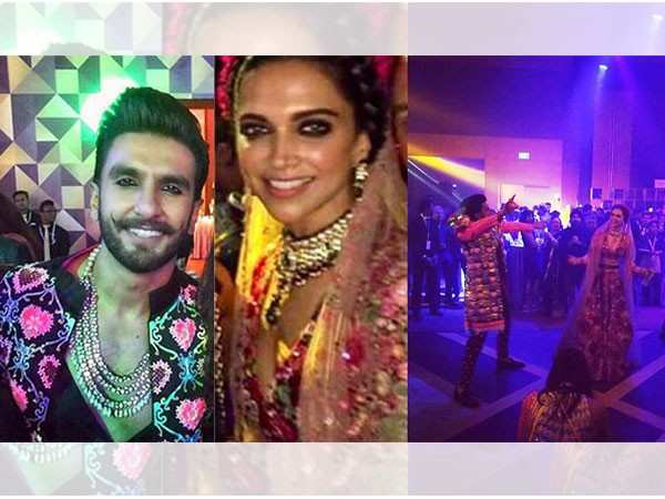 Ranveer Singh & Deepika Padukone dance the night away at their wedding bash