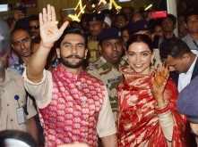 Pictures: Ranveer Singh and Deepika Padukone arrive in Mumbai