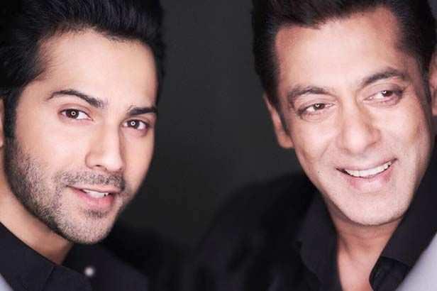 Photos! Varun Dhawan and Salman Khan caught twinning on the sets of Bharat