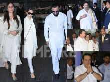 Photos! The Kapoors arrive at late Krishna Raj Kapoor's prayer meet