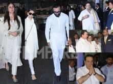 Photos! The Kapoors arrive at late Krishna Raj Kapoor's prayer meet