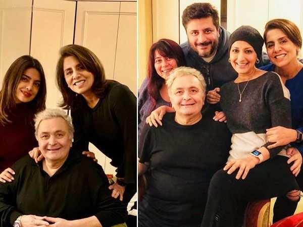 Priyanka Chopra and Sonali Bendre spend time with Rishi Kapoor