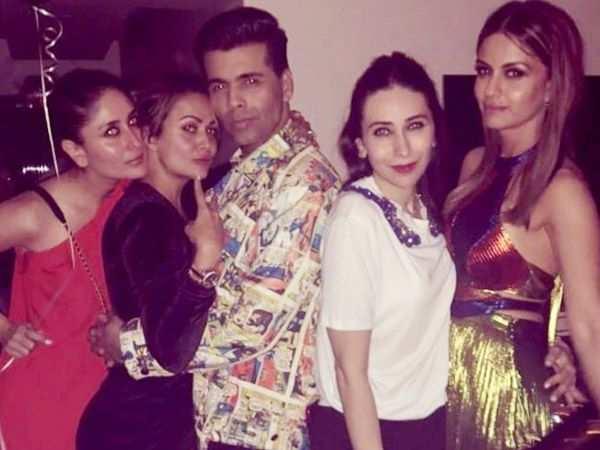 Kareena Kapoor Khan, Jacqueline Fernandez and Janhvi Kapoor party together