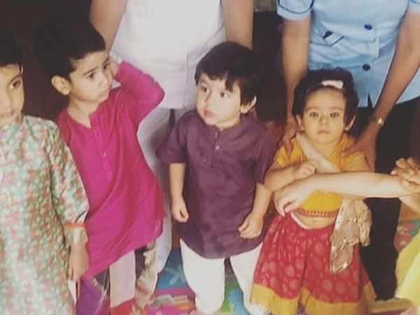 Taimur Ali Khan, Inaaya Naumi & Laksshya Kapoor celebrate Dussehra together