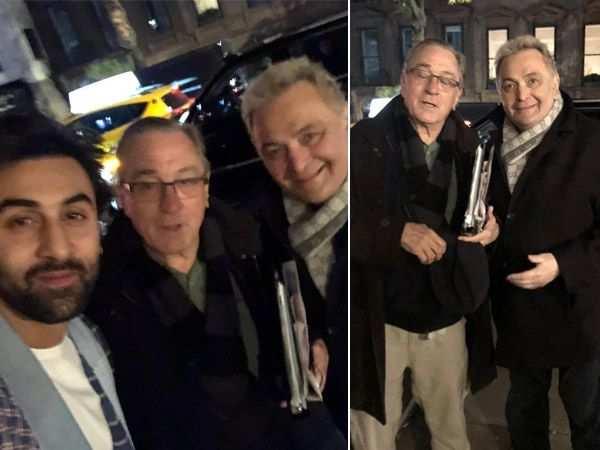 Rishi Kapoor and Ranbir Kapoor meet Robert De Niro in NYC