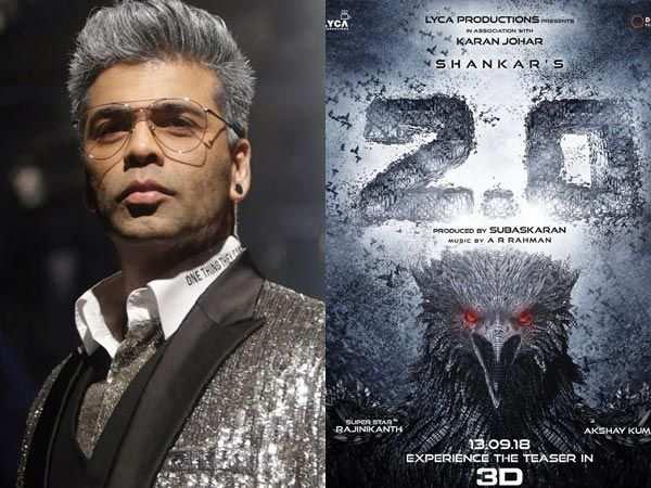 Big Announcement! Karan Johar to now present Rajinikanth's 2.0