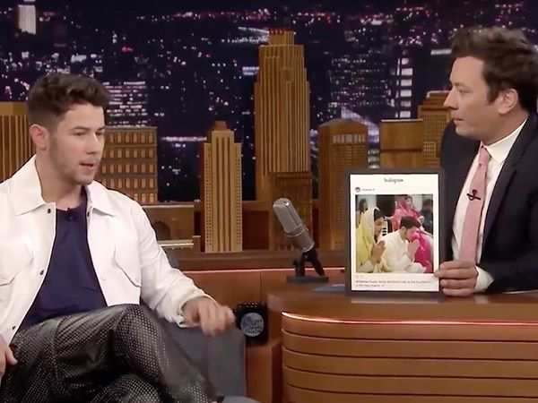 Nick Jonas describing the roka ceremony on TV is the cutest thing ever