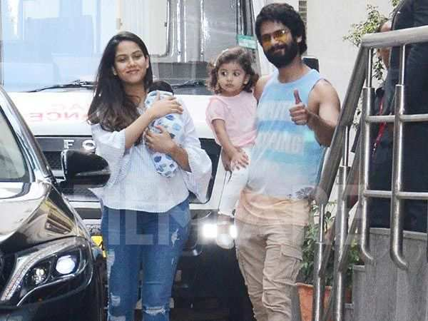 """""""I wish I could draw a line..."""" – Shahid Kapoor on his kids being clicked"""