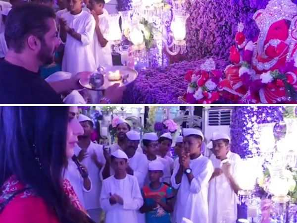 Check out this video of Katrina Kaif and Salman Khan doing Ganesh puja