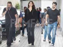 Alia Bhatt, Aditya Roy Kapur & Sanjay Dutt spotted at Vishesh films' office