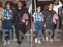 Aamir Khan & Kiran Rao return to Mumbai post attending Ambani bash in Italy