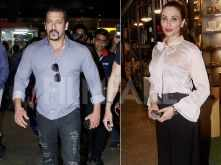 Salman Khan clicked with Lulia Vantur at the Mumbai airport