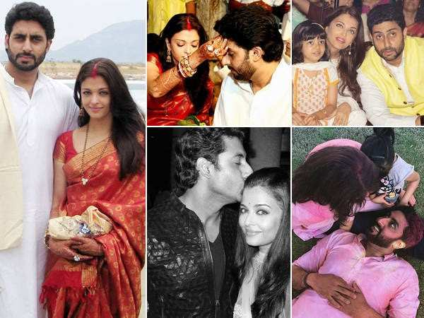 Pictures of Aishwarya Rai and Abhishek Bachchan that spell love