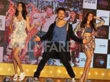 Ananya Panday, Tara Sutaria and Tiger Shroff at The Jawaani Song's launch
