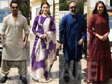 All pictures: Team Kalank at the grand trailer launch