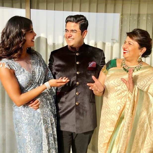 Priyanka Chopra, Siddharth Chopra, Nick Jonas