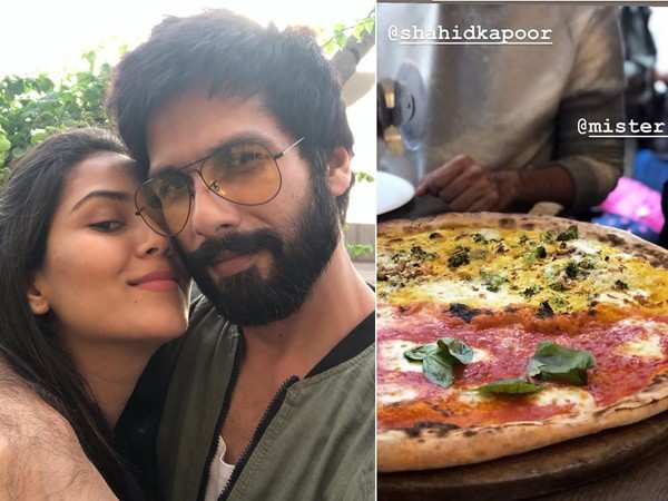 Check out this video of Shahid Kapoor as he enjoys a Pizza date with wife Mira Kapoor