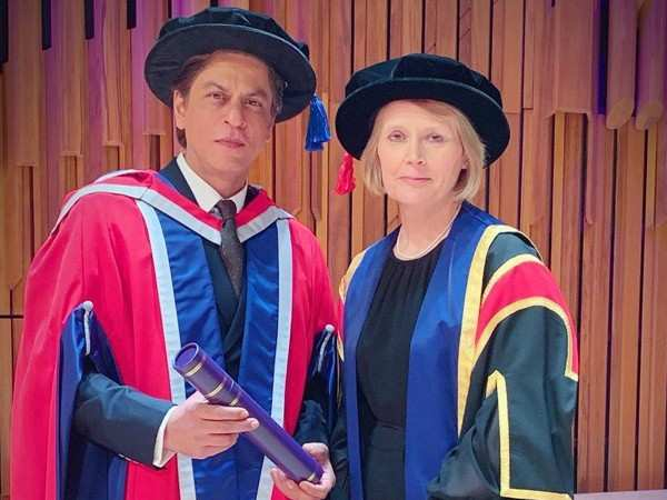 Shah Rukh Khan receives an honorary doctorate from the University of Law in London