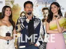 Tiger Shroff gets a kiss from Tara Sutaria and Ananya Panday at SOTY 2 trailer launch