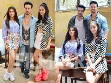 Tiger Shroff, Ananya Panday & Tara Sutaria snapped during SOTY 2 promotions